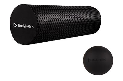 Foam Roller & Lacrosse Massage Ball 65mm Set BodyNetics